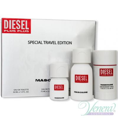 Diesel Plus Plus Комплект (EDT 75ml + Deo Stick 75ml + EDT 30ml) за Мъже
