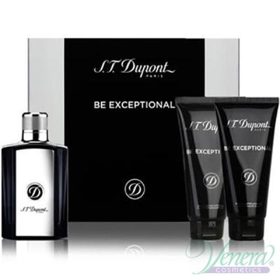 S.T. Dupont Be Exceptional Set (EDT 100ml + AS Balm 100ml + SG 100ml) за Мъже Мъжки Комплекти