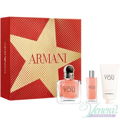 Emporio Armani In Love With You Комплект (EDP 50ml + EDP 15ml + Hand Cream 50ml) за Жени Дамски Комплекти