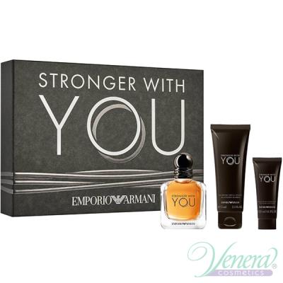 Emporio Armani Stronger With You Комплект (EDT 50ml + AS Balm 20ml + SG 75ml) за Мъже