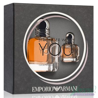 Emporio Armani Stronger With You Комплект (EDT 50ml + EDT 7ml) за Мъже Комплекти