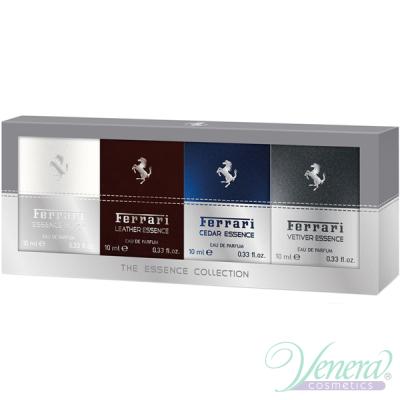 Ferrari The Essence Collection Комплект 4 x EDP 10ml (Vetiver + Cedar + Leather + Musk) за Мъже Мъжки Комплекти