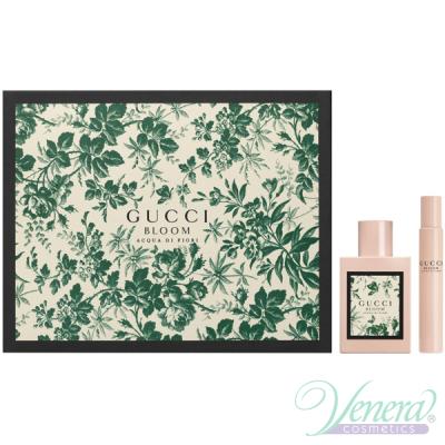 Gucci Bloom Acqua di Fiori Комплект (EDT 50ml + EDT 7.4ml) за Жени Дамски Комплекти