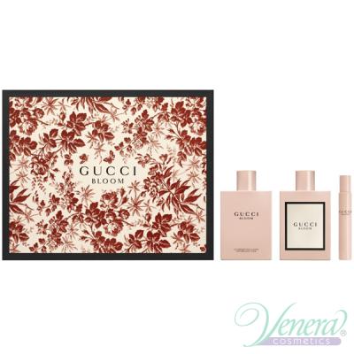Gucci Bloom Комплект (EDP 100ml + EDP 7,4ml + BL 100ml) за Жени Дамски Комплекти