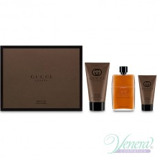 Gucci Guilty Absolute Комплект (EDP 90ml + AS Balm 50ml + SG 150ml) за Мъже