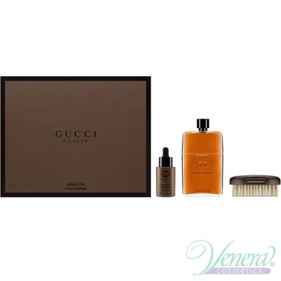 Gucci Guilty Absolute Комплект (EDP 150ml + Beard Oil 30ml + Brush) за Мъже Мъжки Комплекти