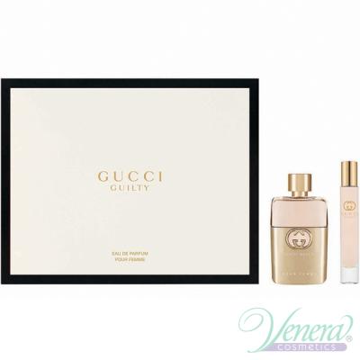 Gucci Guilty Eau de Parfum Комплект (EDP 50ml + EDP 7,4ml Roller Ball) за Жени Дамски Комплекти