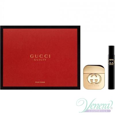 Gucci Guilty комплект (EDT 50ml + EDT 7.4ml Roller Ball) за Жени Дамски Комплекти