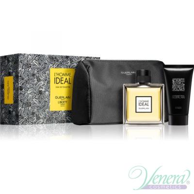 Guerlain L'Homme Ideal Комплект (EDT 100ml + Shower Gel 75ml + Несесер) за Мъже