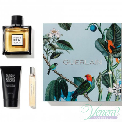 Guerlain L'Homme Ideal Комплект (EDT 100ml + EDT 10ml + SG 75ml) за Мъже