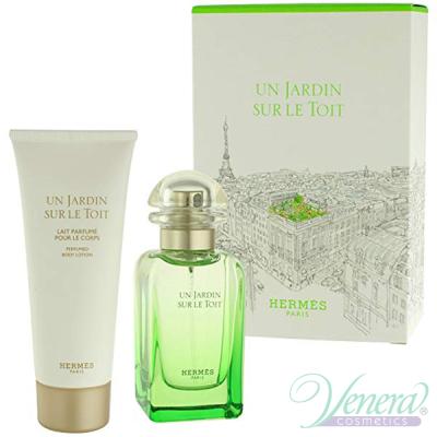 Hermes Un Jardin Sur Le Toit Комплект (EDT 50ml + BL 75ml) за Мъже и Жени Унисекс Комплекти