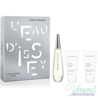 Issey Miyake L'Eau D'Issey Pure Set (EDP 50ml + BL 50ml + SG 50ml) за Жени Дамски Комплекти