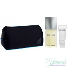 Issey Miyake L'Eau D'Issey Pour Homme Set (EDT 75ml + SG 50ml + Bag) за Мъже