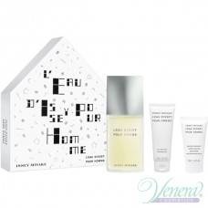 Issey Miyake L'Eau D'Issey Pour Homme Комплект (EDT 125ml + AS Balm 50ml + SG 75ml) за Мъже