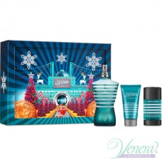 Jean Paul Gaultier Le Male Комплект (EDT 125ml + Deo Stick 75ml + AS Balm 50ml) за Мъже