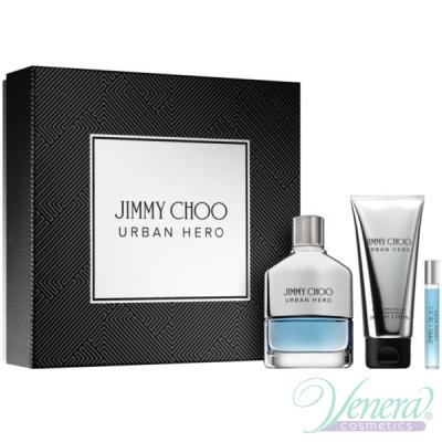 Jimmy Choo Urban Hero Комплект (EDP 100ml + AS Balm 100ml + EDP 7.5ml) за Мъже Мъжки Комплекти