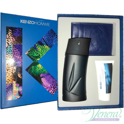 Kenzo Pour Homme (EDT 100ml + AS Balm 50ml + Портмоне) за Мъже