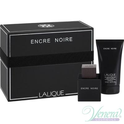 Lalique Encre Noire Комплект (EDT 100ml + SG 150ml) за Мъже Мъжки Комплекти
