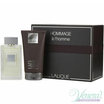 Lalique Hommage à L'Homme Комплект (EDT 100ml + SG 150ml) за Мъже