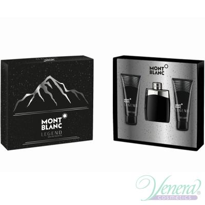 Mont Blanc Legend Комплект (EDT 100ml + AS Balm 100ml + SG 100ml) за Мъже