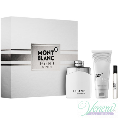 Mont Blanc Legend Spirit Комплект (EDT 100ml + AS Blam 100ml + EDT 7.5ml) за Мъже Мъжки Комплекти
