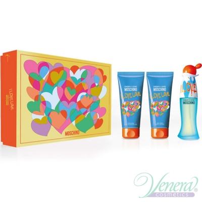Moschino Cheap & Chic I Love Love Комплект (EDT 50ml + BL 100ml + SG 100ml) за Жени Дамски Комплекти