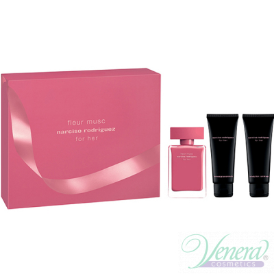Narciso Rodriguez Fleur Musc Комплект (EDP 50ml + BL 75ml + SG 75ml) за Жени