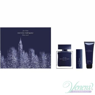 Narciso Rodriguez for Him Bleu Noir Комплект (EDT 100ml + EDT 10ml + SG 75ml) за Мъже Мъжки Комплекти