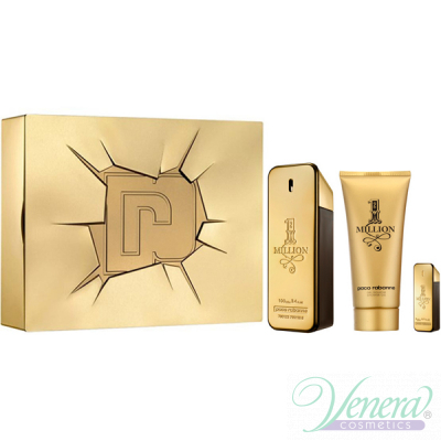Paco Rabanne 1 Million Комплект (EDT 100ml + EDT 5ml + SG 100ml) за Мъже
