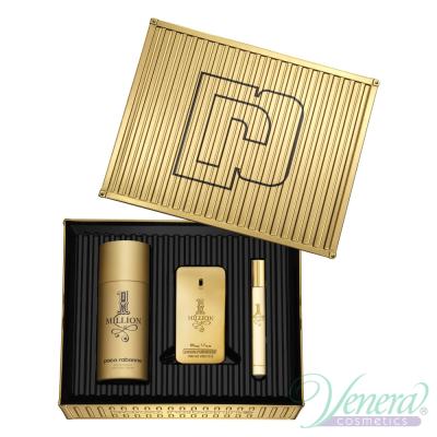 Paco Rabanne 1 Million Set (EDT 50ml + EDT 10ml + Deo Spray 150ml) за Мъже Мъжки Комплекти