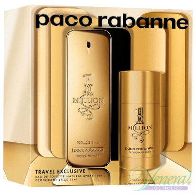 Paco Rabanne 1 Million Комплект (EDT 100ml + Deo Stick 75ml) за Мъже