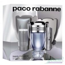 Paco Rabanne Invictus Комплект (EDT 100ml + EDT 10ml + SG 75ml) за Мъже