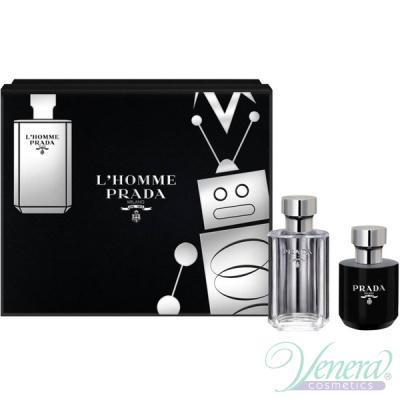 Prada L'Homme Комплект (EDT 50ml + Shower Cream 100ml) за Мъже Мъжки Комплекти