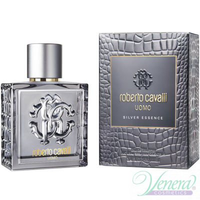Roberto Cavalli Uomo Silver Essence EDT 60ml за Мъже Мъжки Парфюми