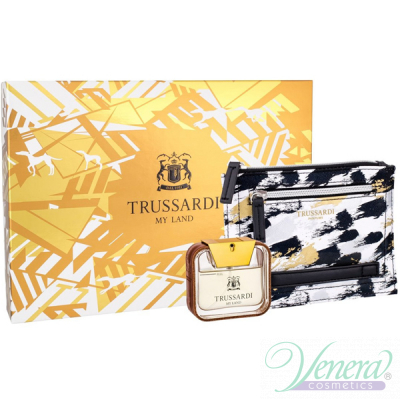 Trussardi My Land Set (EDT 50ml + Document Holder) за Мъже Мъжки Комплекти