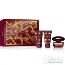 Versace Crystal Noir Set (EDT 50ml + BL 50ml + SG 50ml) за Жени