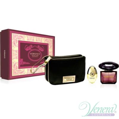 Versace Crystal Noir Set (EDT 90ml + EDT 10ml + Bag) за Жени