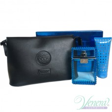 Versace Man Eau Fraiche Комплект (EDT 100ml +SG 100ml + Bag) за Мъже