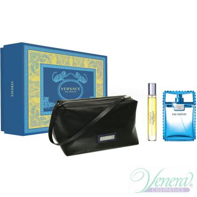 Versace Man Eau Fraiche Комплект (EDT 100ml + EDT 10ml + Bag) за Мъже