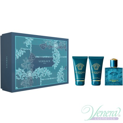 Versace Eros Комплект (EDT 50ml + AS Balm 50ml + SG 50ml) за Мъже За Мъже
