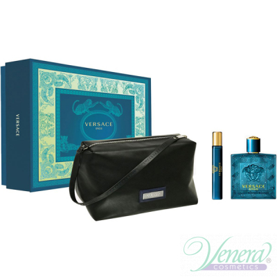 Versace Eros Комплект (EDT 100ml + EDT 10ml + Bag) за Мъже