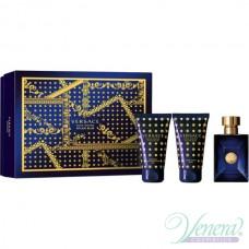 Versace Pour Homme Dylan Blue Комплект (EDT 50ml + ASB 50ml + SG 50ml) за Мъже