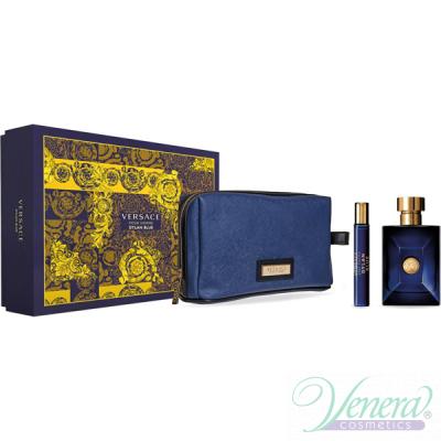 Versace Pour Homme Dylan Blue Комплект (EDT 100ml + EDT 10ml + Bag) за Мъже