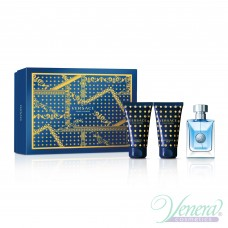 Versace Pour Homme Комплект (EDT 50ml + AS Balm 50ml + SG 50ml) за Мъже