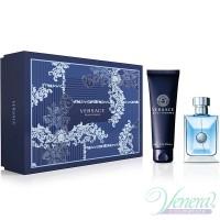Versace Pour Homme Комплект (EDT 100ml + SG 150ml) за Мъже Мъжки Комплекти