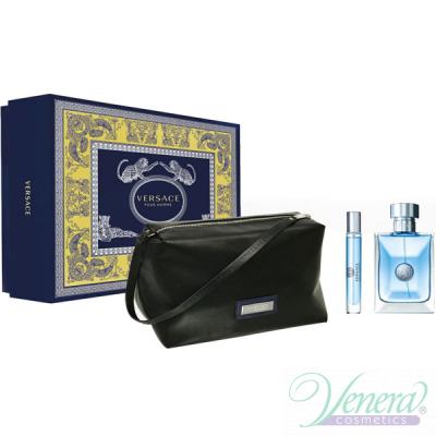 Versace Pour Homme Комплект (EDT 100ml + EDT 10ml + Bag) за Мъже Мъжки Комплекти