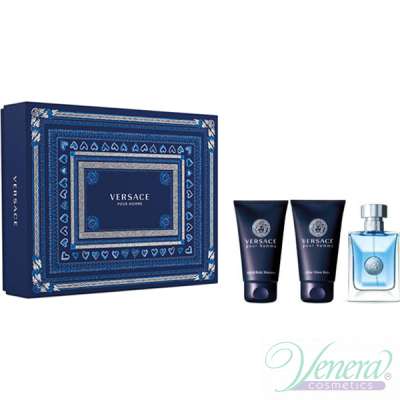 Versace Pour Homme Set (EDT 50ml + AS Balm 50ml + SG 50ml) за Мъже Мъжки Комплекти