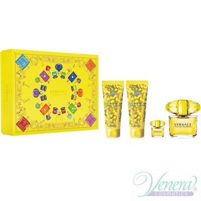 Versace Yellow Diamond Комплект (EDT 90ml + EDT 5ml + BL 100ml + SG 100ml) за Жени Дамски Комплекти