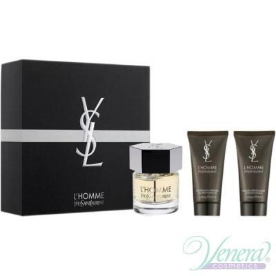 YSL L'Homme Комплект (EDT 60ml + SG 50ml + AS Balm 50ml) за Мъже Мъжки Комплекти