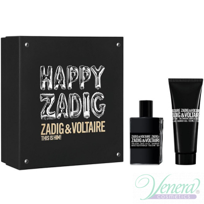 Zadig & Voltaire This is Him Комплект (EDT 50ml + SG 100ml) Happy Zadig! за Мъже